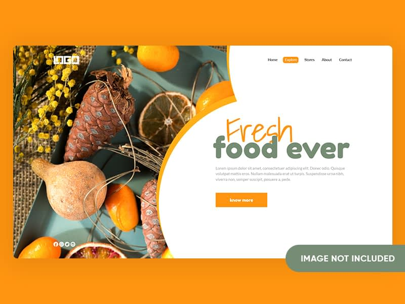 Fresh Food Landing Page Design