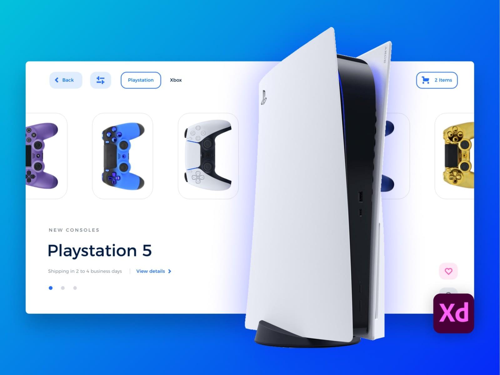 Playstation Freebie E-Commerce Landing page