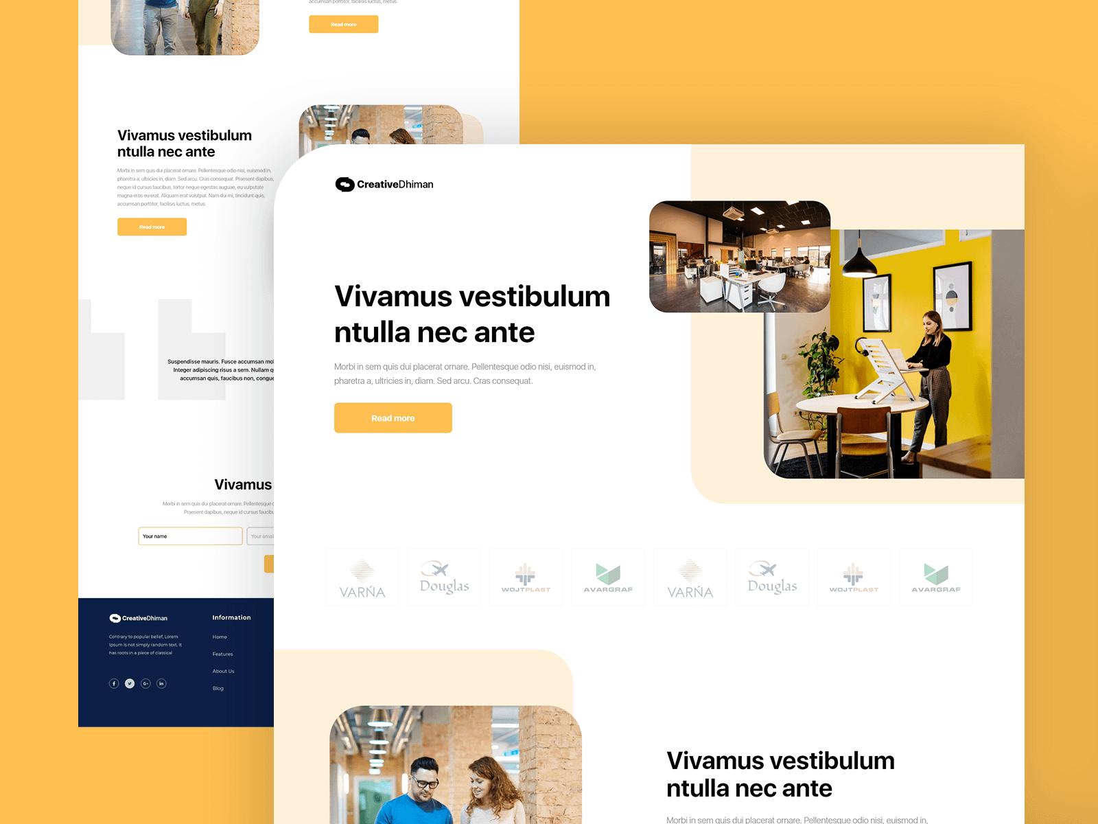 Creative team agency landing page freebie