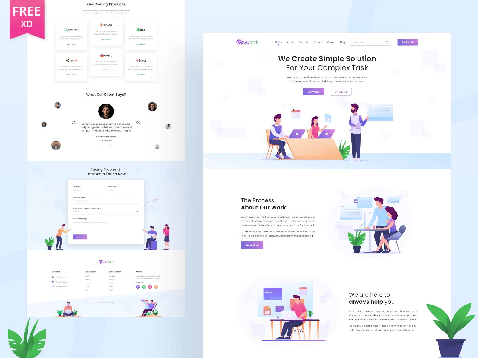 Gotech Startup Website Template Freebie