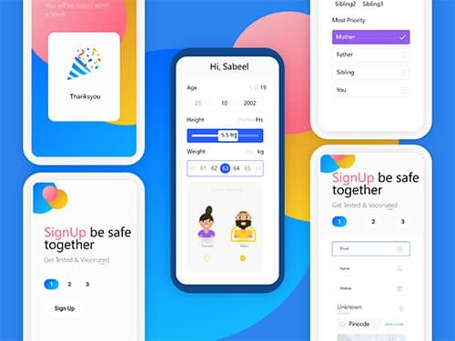 Sign up Page for kids Ui Kit