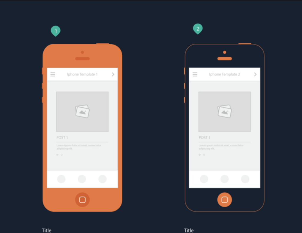 Iphone templates for mobile storyboard