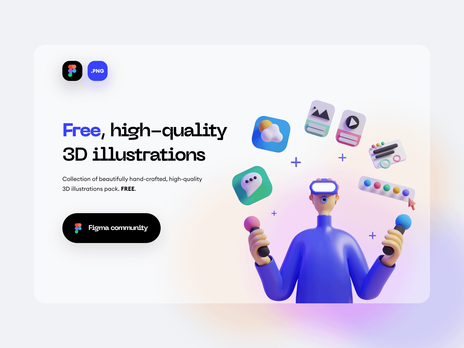 SALY 3D Illustration Pack Free