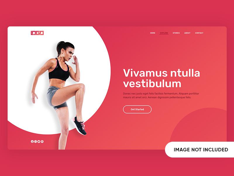 Fitness Women Landing Page