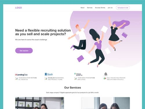 Recruitment Agency Free Landing Page