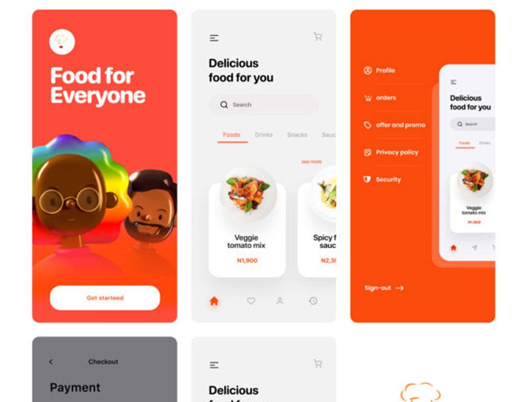 Food App Free UI Kit for Figma