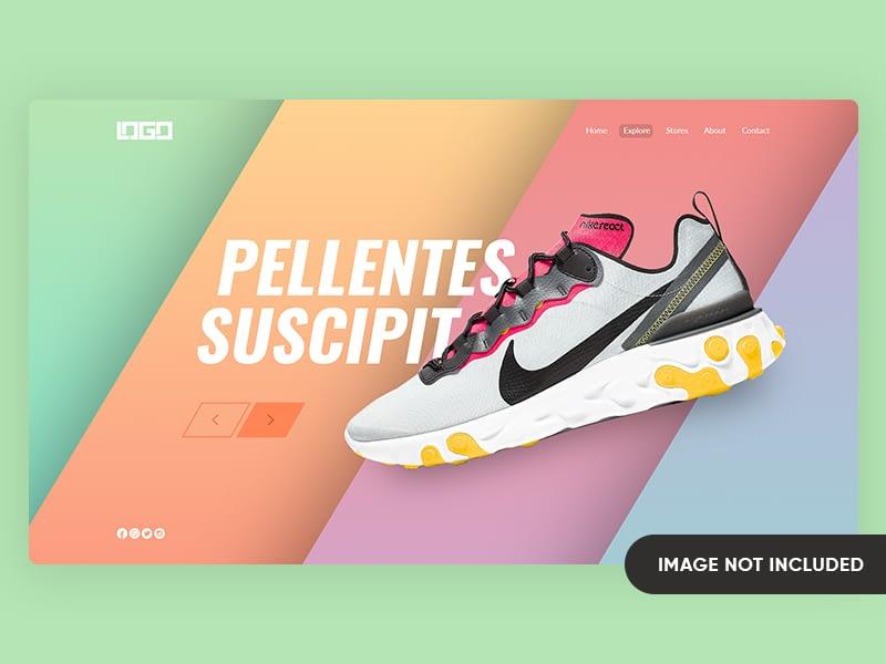 Nike Shoes Landing Page Design