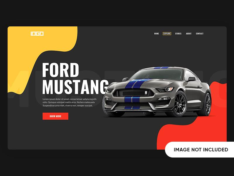 Mustang Landing Page Design