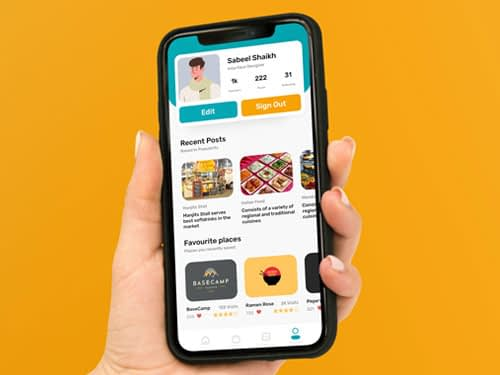 Food app profile concept free download