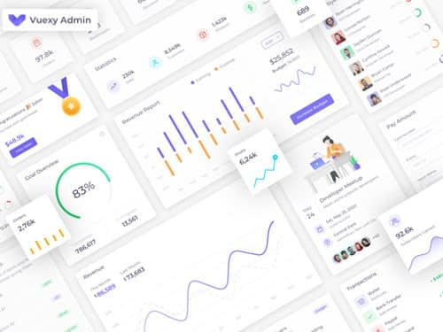 Vuexy – Vuejs, React, HTML & Laravel Admin Dashboard Template