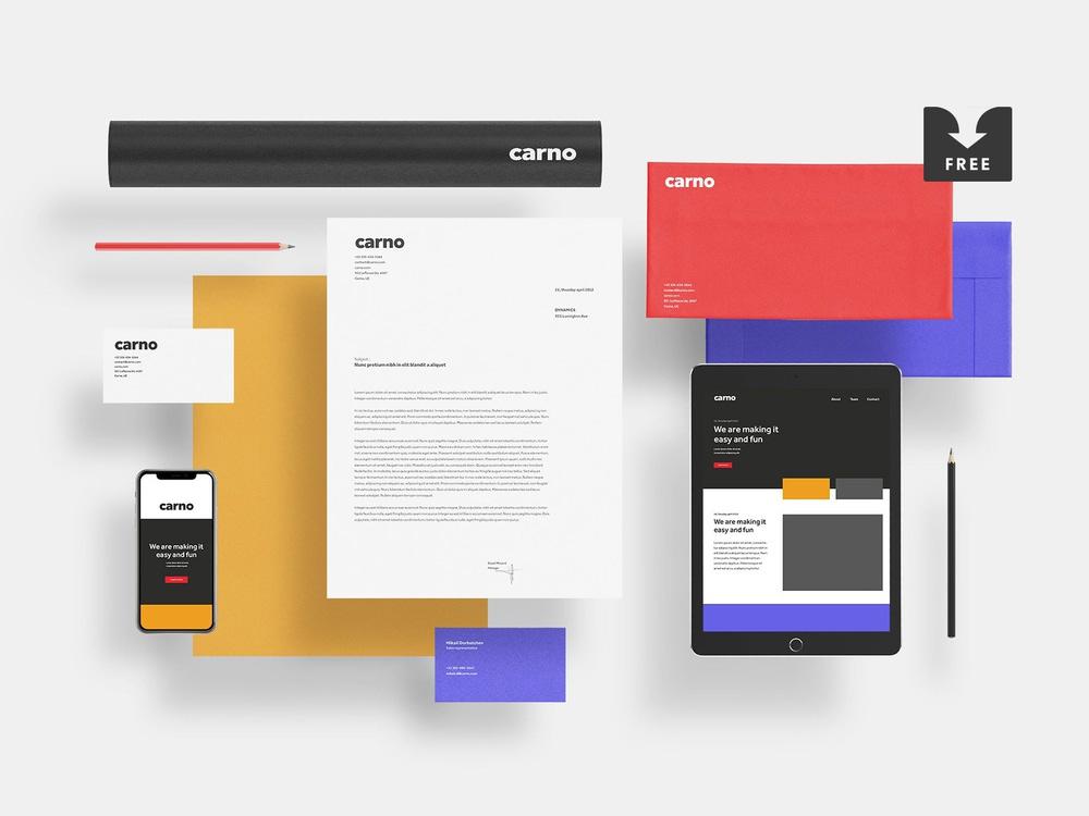 Carno Branding Mockup Free Download