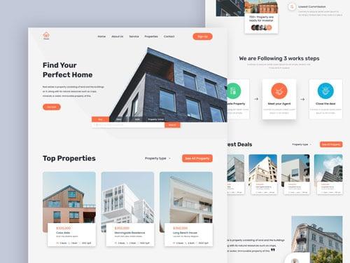 Real Estate – Exploration Landing Page