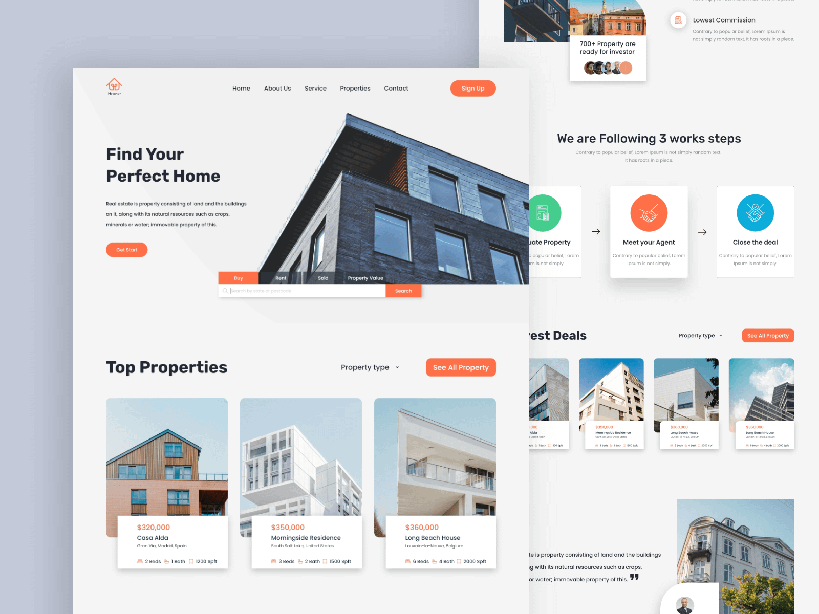 Real Estate - Exploration Landing Page