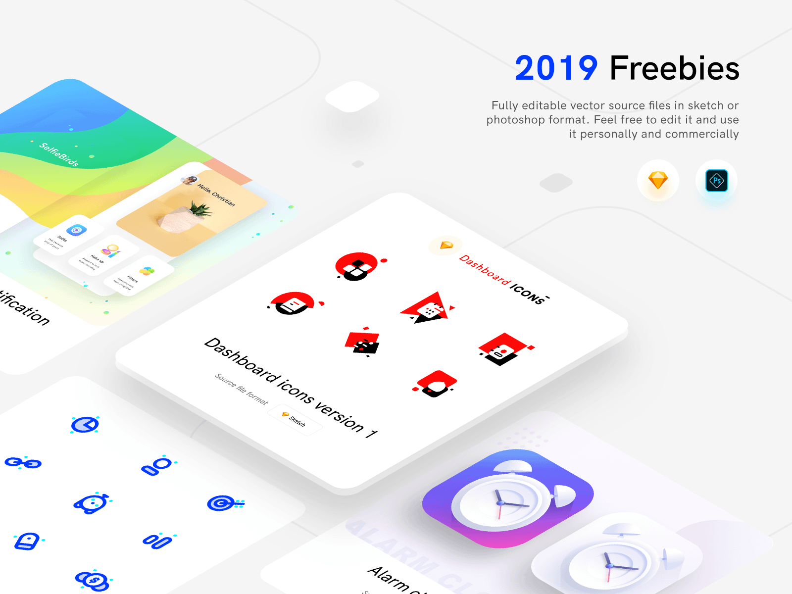 Illustrations and Icons freebies 2019