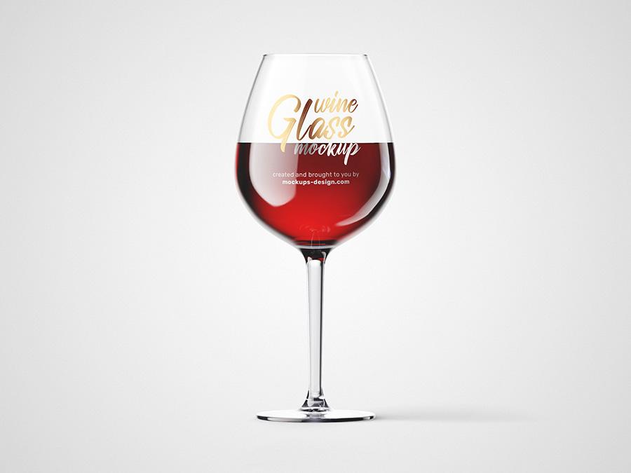 Free wine glass mockup