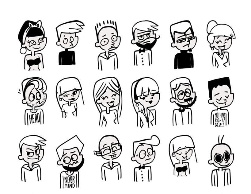 Retroooo Folks Illustrations