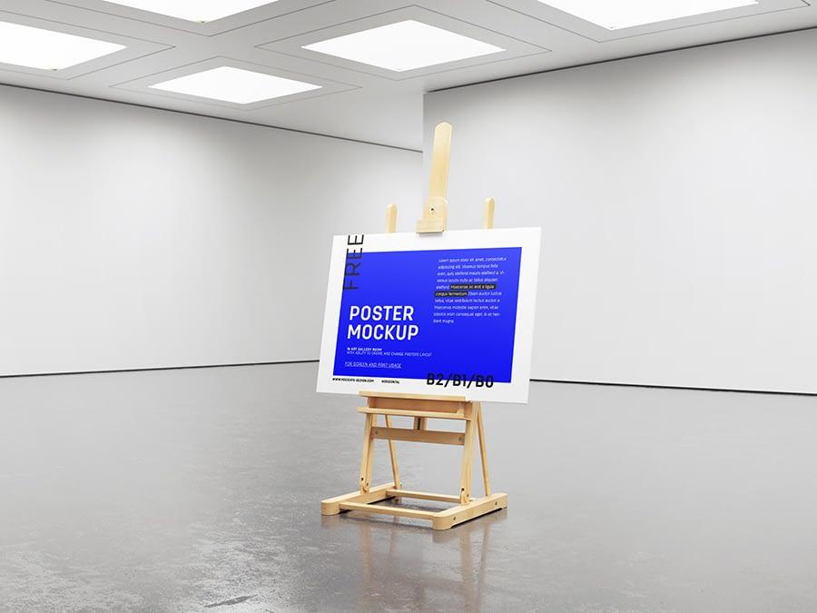 Free gallery easel mockup