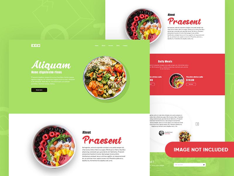 Fresh Meal Landing Page