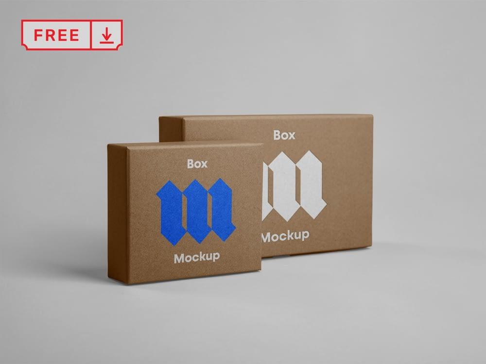 Free Front Box Mockups