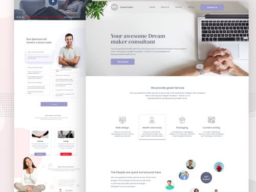 Consultant Landing Page Free Download
